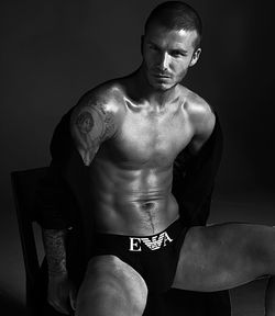 David Beckham in underwear