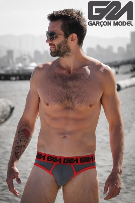 Daniel - Garcon Model Underwear - Beach Macho Blue Trunks 46