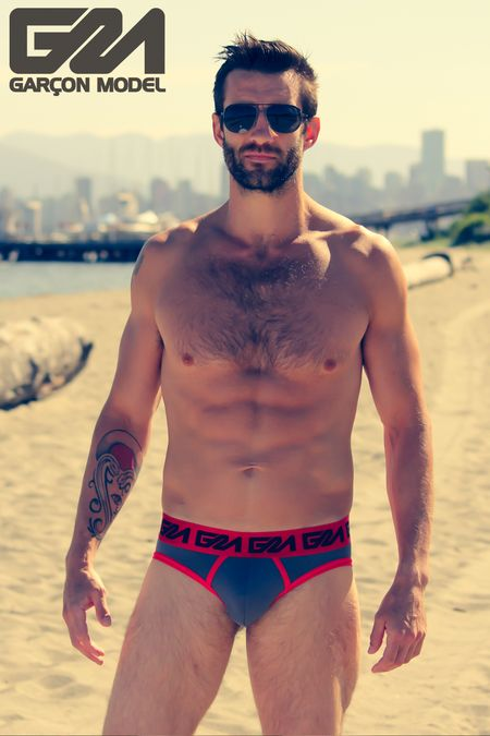 Daniel - Garcon Model Underwear - Beach Macho Blue Trunks 49