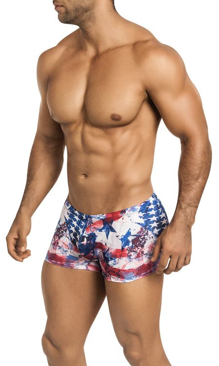 Picture About Male Model New Release from  Vuth​y Sim with Old​ Glory Swimsuit for​ 4th of July