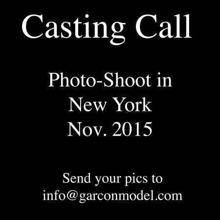 Garçon Model Casting Call - NYC Shoot