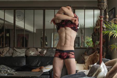 L Homme Invisible underwear - Velours Mystique lace underwear 07