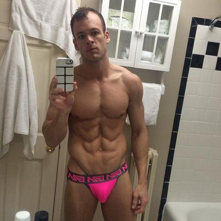 Garcon model Pink jockstraps Selfie contest @odell1982