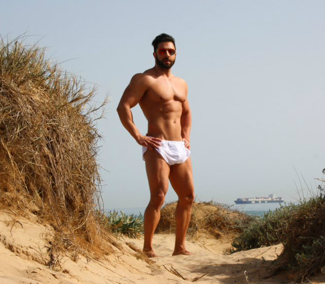 Picture About Male Model Fran Manent ( a Fitness Coach) for AMU Extreme Shorts