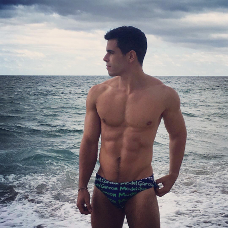 Garcon Model Navy Speedo